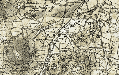 Old map of Limestones in 1910