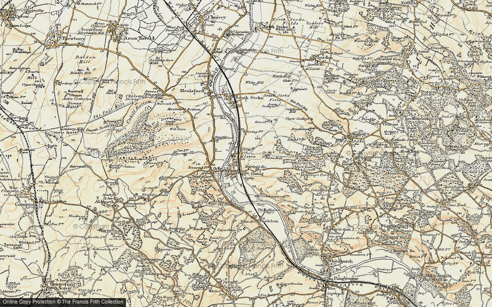 Old Map of Goring, 1897-1900 in 1897-1900