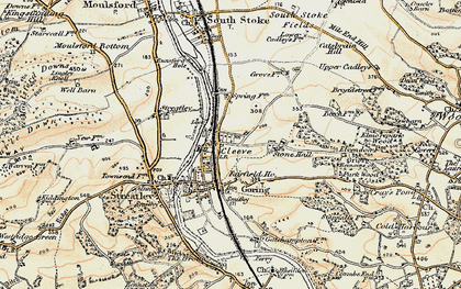 Old map of Goring in 1897-1900
