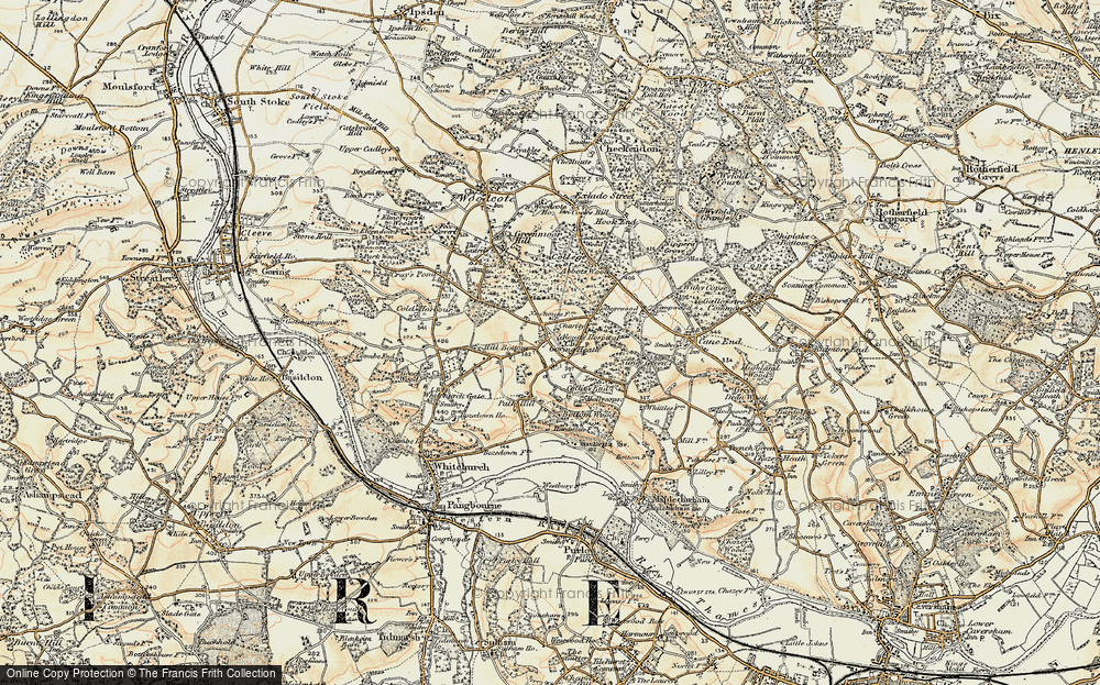 Old Map of Historic Map covering Almhouses, The in 1897-1900