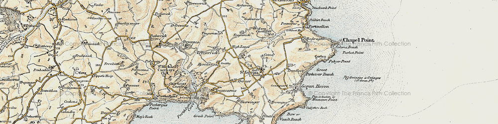 Old map of Gorran Churchtown in 1900