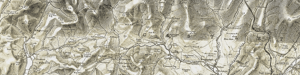 Old map of Windy Edge in 1901-1904