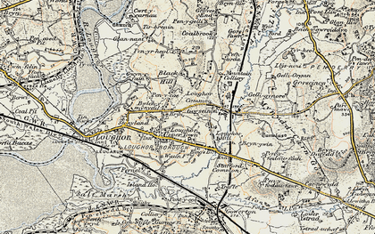 Old map of Gorseinon in 1900-1901