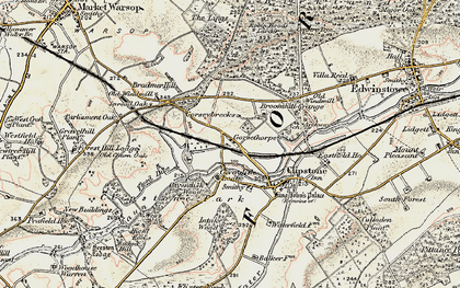 Old map of Lings, The in 1902-1903