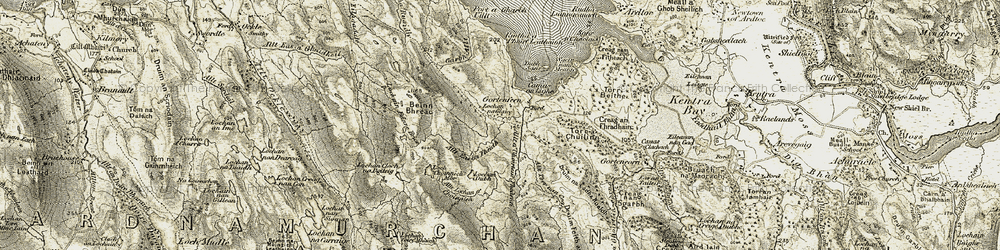 Old map of Leac Shoilleir in 1906-1908