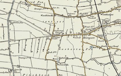Old map of Woodbine Ho in 1902-1903