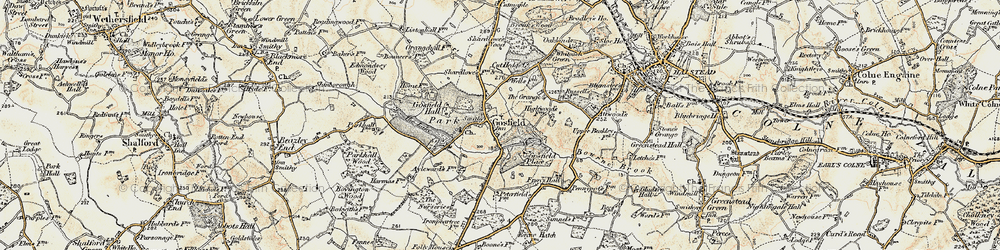 Old map of Gosfield in 1898-1899