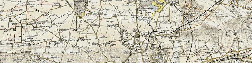 Old map of Gosforth in 1901-1903
