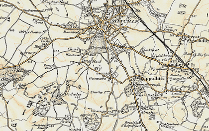 Old map of Gosmore in 1898-1899