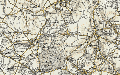 Old map of Wodehouse, The in 1902