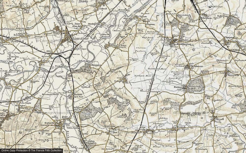 Map of Gotham, 1902-1903 - Francis Frith Gotham Map on