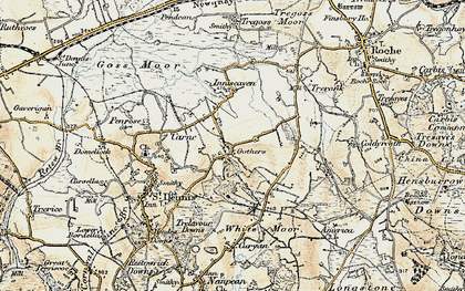 Old map of Gothers in 1900