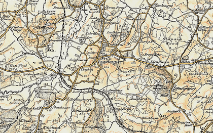 Old map of Lidwells Ho in 1897-1898
