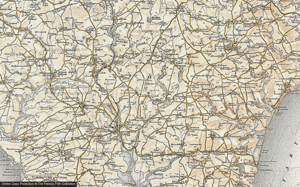 Old Map of Goveton, 1899 in 1899