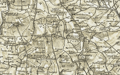 Old map of Backhill of Barrack in 1909-1910