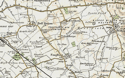 Old map of Youlthorpe Pasture Hill in 1903-1904