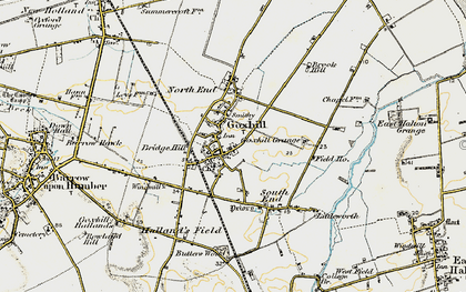 Old map of Goxhill in 1903-1908