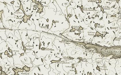 Old map of Àirigh Dhrìseach in 1909-1911