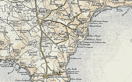Old map of Grade in 1900