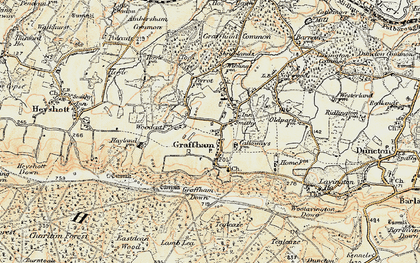 Old map of Graffham in 1897-1900