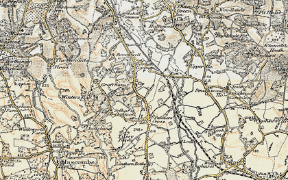 Old map of Wey-South Path in 1897-1909