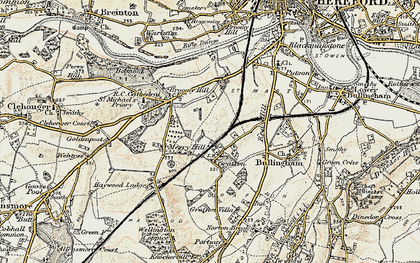 Old map of Grafton in 1900-1901