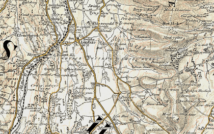 Old map of Pentre Côch in 1902-1903