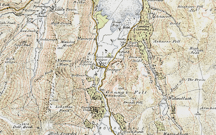 Old map of Ashness Br in 1901-1904
