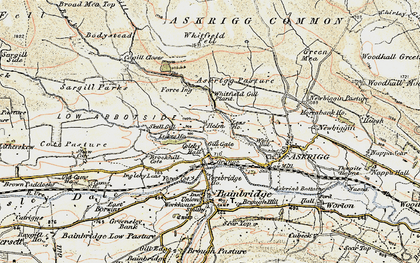 Old map of Whitfield Gill Force in 1903-1904