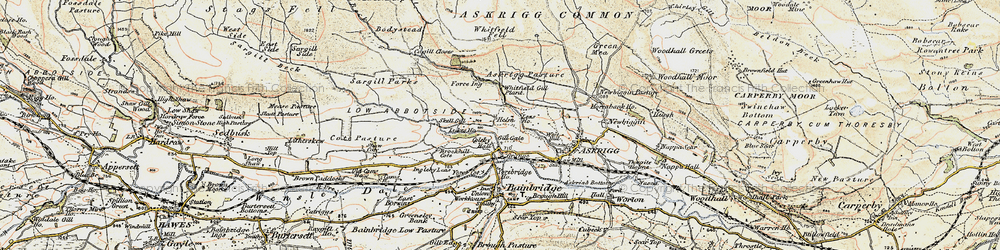 Old map of Whitfield Fell in 1903-1904