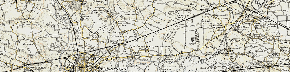 Old map of Grange in 1903