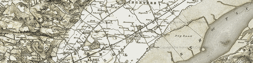 Old map of Aithmuir in 1906-1908