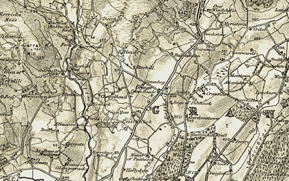 Old map of Balnamoonhill in 1910