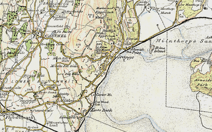 Old map of Grange-Over-Sands in 1903-1904