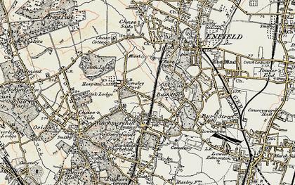 Old map of Grange Park in 1897-1898