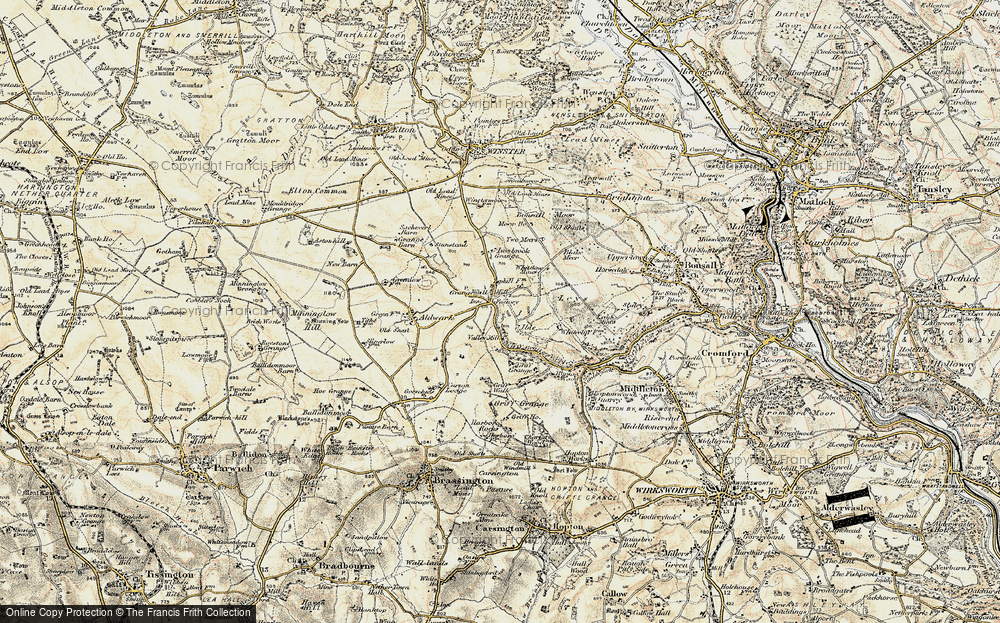 Old Map of Historic Map covering Leys in 1902-1903