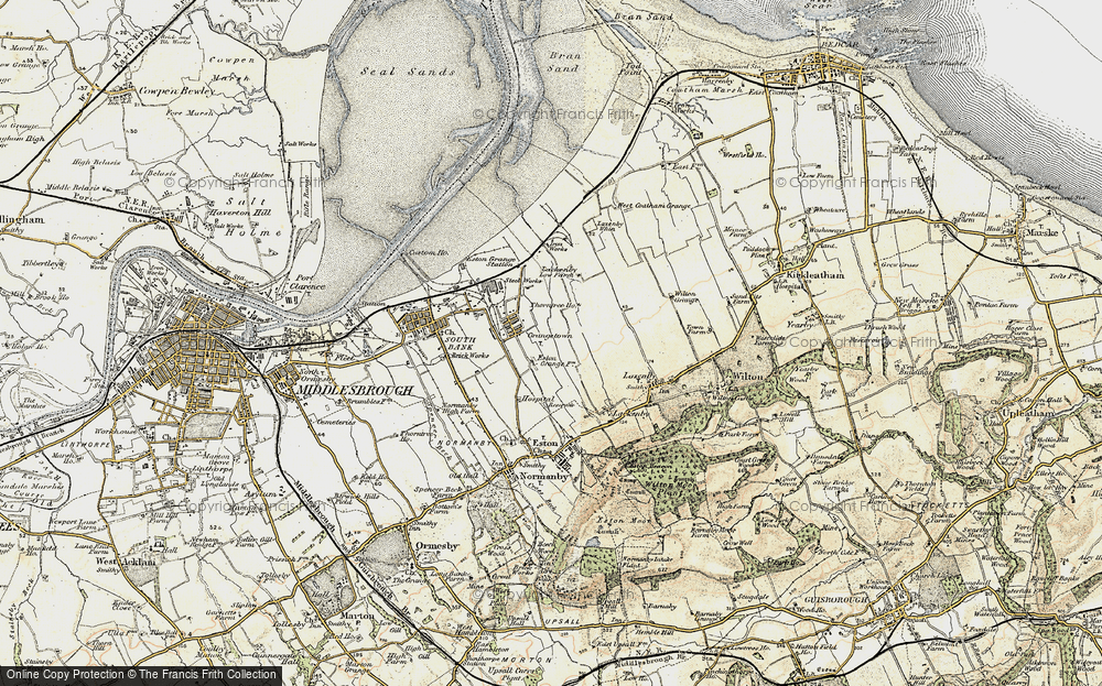 Old Map of Grangetown, 1903-1904 in 1903-1904