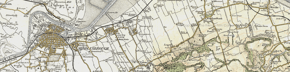 Old map of Grangetown in 1903-1904