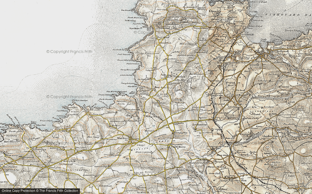 Old Map of Historic Map covering Aber Bach in 1901-1912