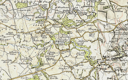 Old map of Grantley Hall in 1903-1904