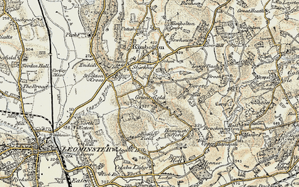 Old map of Widgeon Hill in 1899-1902