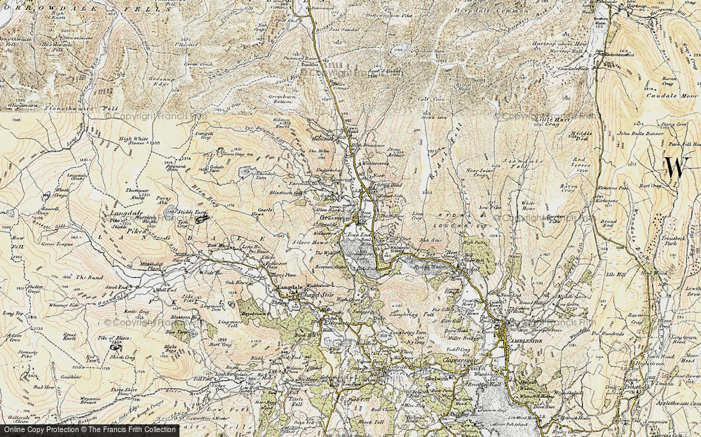 Old Map of Grasmere, 1904 in 1904