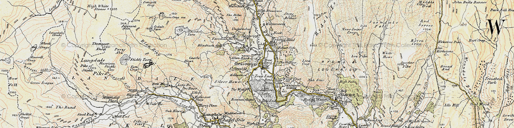Old map of Winterseeds in 1904