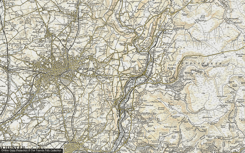 Old Map of Grasscroft, 1903 in 1903
