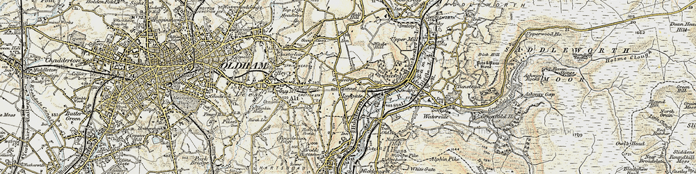 Old map of Grasscroft in 1903