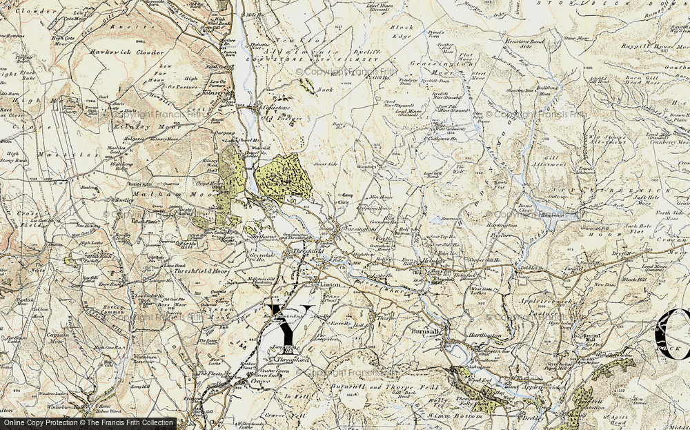 Old Map of Historic Map covering Bare Ho in 1903-1904