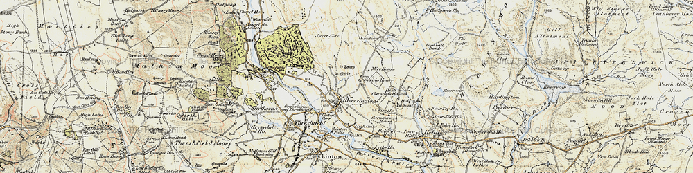 Old map of Yarnbury in 1903-1904