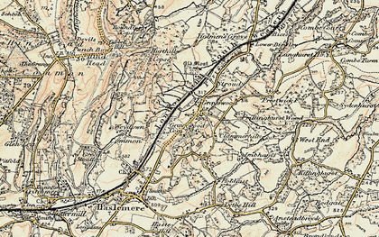 Old map of Weydown Common in 1897-1909
