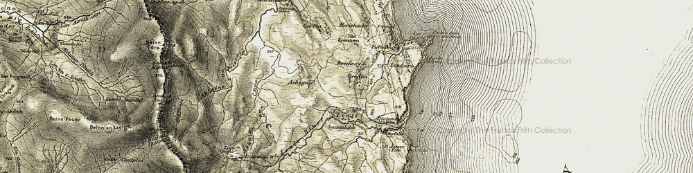 Old map of Achaguie in 1908-1909