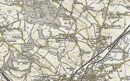 Old map of Greasbrough in 1903